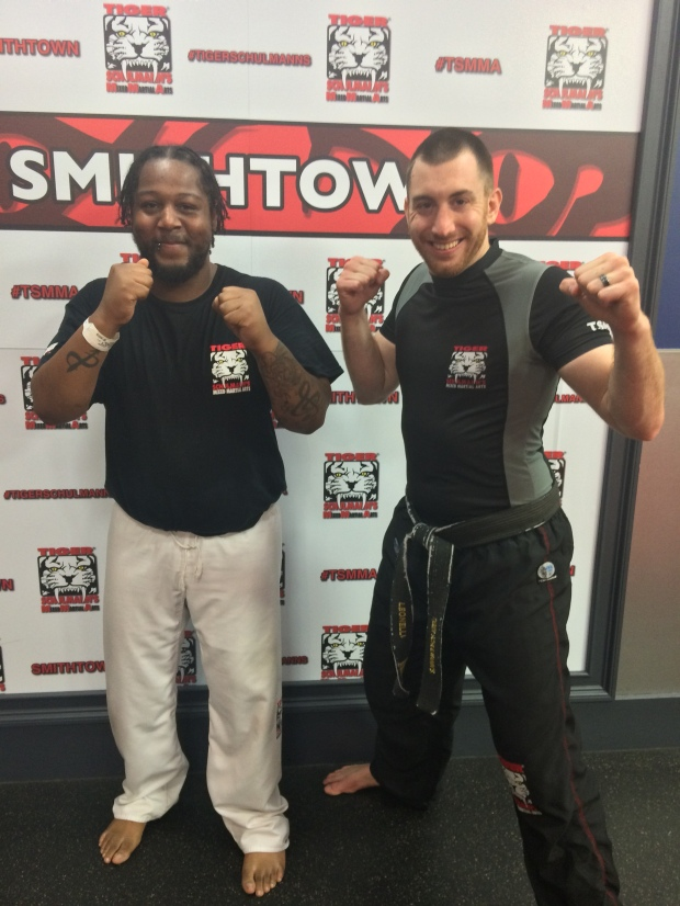 Sensei Leonelli and his student Tre Scott