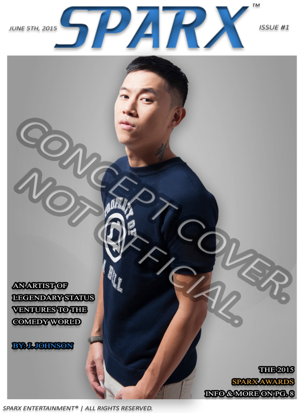 Concept artwork for the upcoming SPARX™ Magazine featuring MC Jin (he's not the official cover model) | Sparx Entertainment®