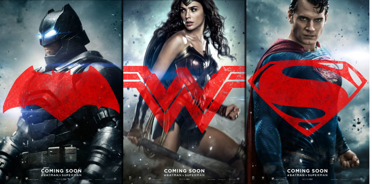 "(From left to right) Batman (Ben Affleck), Wonder Woman (Gal Gadot), & Superman (Henry Cavill); 'Batman v Superman ""Dawn of Justice"" (2016) | Credit: Warner Bros. & DC"