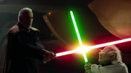 "Count Dooku (Christopher Lee) vs. Yoda; Star Wars 'Episode II': Attack Of the Clones"" (2002) 