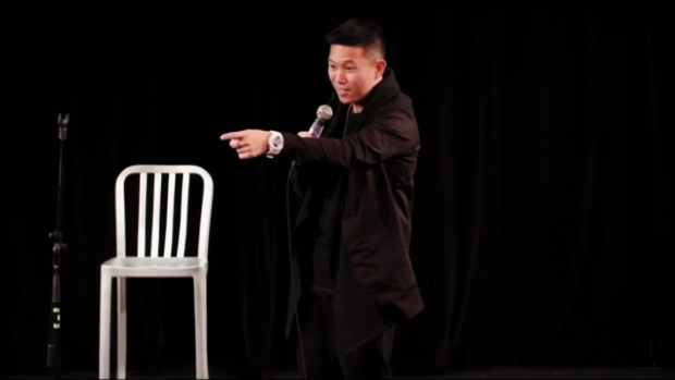 "MC Jin during his special ""NAS vs. NBA"" 