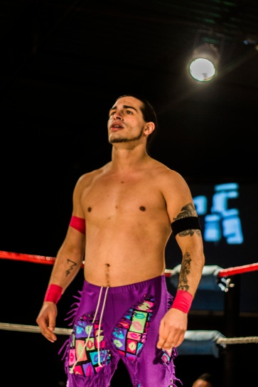 One half of the FSW Tag Team Champions Nutrious X; Tier 1 Wrestling | Credit: Andrew Kao