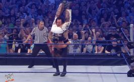 The final Tombstone Piledriver putting an end to Shawn Michaels | Credit: WWE