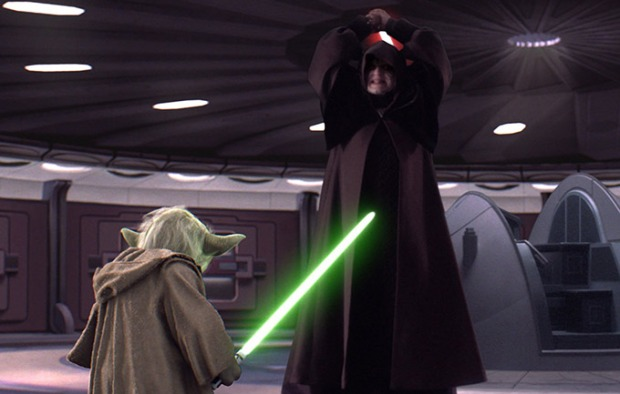 "Lord Sidious (Ian McDiarmid) vs Yoda; Star Wars 'Episode III: Revenge of the Sith"" (2005) 