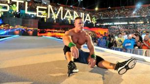 John Cena shocked after his defeat; WM28 | Credit: WWE