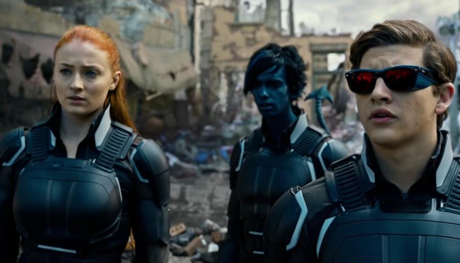 (From left to right) Jean Grey (Sophie Turner), Nightcrawler (Kodi Smit-McPhee), and Cyclops (Tye Sheridan) | Credit: Marvel Entertainment & 20th Century Fox