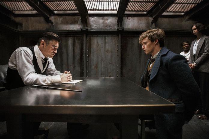 Graves (Colin Farrell) & Newt (Eddie Redmayne) } Credit: Warner Bros. Pictures