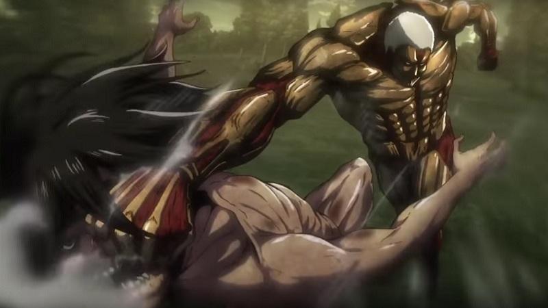 The Armored Titan attacking Eren   Credit: Wit Studio & Kodansha