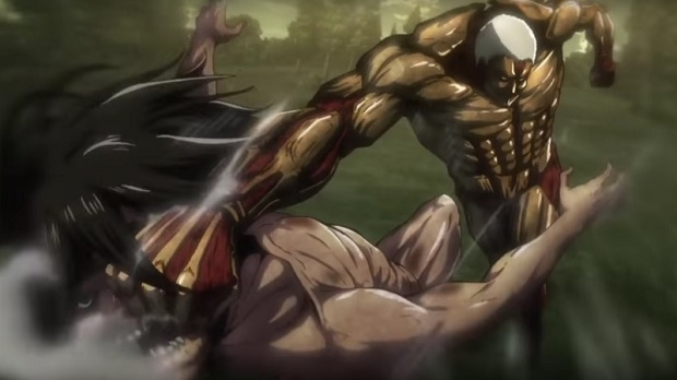 The Armored Titan attacking Eren | Credit: Wit Studio & Kodansha