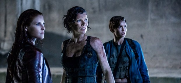 (left to right): Ali Larter, Milla Jovovich and Ruby Rose star in Screen Gems' Resident Evil: The Final Chapter